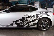 Vinyle Décalque Déchiré Côté Subie Stars Drapé Kit pour Subaru Brz 2013-2014 Mat