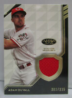 2018 Topps Tier One Baseball ADAM DUVALL Game Used Jersey Relic Card # 301/335