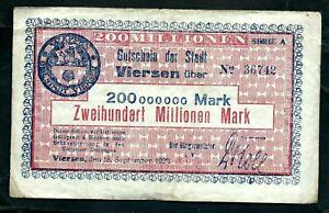 Germany Viersen 200,000,000 Mark 1923