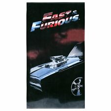 Fast & Furious Red Jumbo Beach Towel   Pool Bath   Toretto   1970 Charger R/T