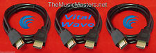 3X 12' ft HDMI Cable M-M 1080P 4K Ultra HDTV BLURAY DVD XBOX PS3 Wire Cord VWLTW
