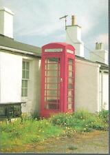 Mid Walls, Shetland - telephone kiosk - postcard