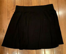 DIVIDED  Black Skirt Medium Twirl Circle HM Stretch Mini Skater Stretch Zipper