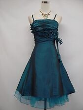 Cherlone Blue Short Prom Ball Party Wedding Evening Bridesmaid Dress Size 14-16