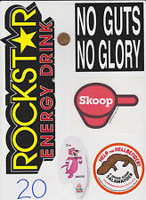 Mixed Lot of Stickers-RockStar Energy-No Guts No Glory-Salamander-Skoop #20