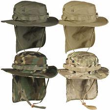 Britischer Boonie RipStop mit Nackenschutz S-XXL Dschungelhut Neckflap Hut