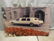 1986-1988 Lincoln Town Car Limousine Dealer Showroom Promo Poster Original 20x30