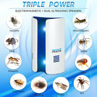 Ultrasonic Electronic Mosquito Repellent Lamp Outdoor Fly Bug Insect Pest Killer