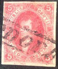 Argentina 1864 5 Cent Red Stamp Vfu