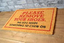 Si prega di rimuovere le scarpe per cani di Cocco Door Mat PVC antiscivolo tappeto ingresso Tappeto
