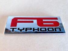 F6 TYPHOON REAR BOOT BADGE FOR BA BF FPV SERIES