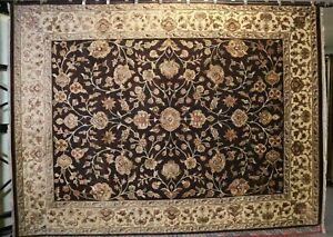 "8'11"" x 11'11"" ft. Silk Flower Hand Knotted Oriental Wool Rug"