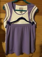 BolleSports Two Piece Top & Skirt Golf Set Lavender & White Women's Size Medium