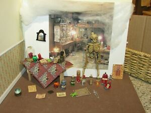 DOLLHOUSE MINIATURE WITCHES TABLE AND TREATS  - OOAK # 6