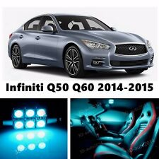11pcs LED ICE Blue Light Interior Package Kit for Infiniti Q50 Q60 2014-2016