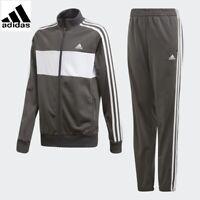 Adidas Tiberio Tracksuit Kids Boys Tracksuit Junior Sport Football Pants Grey