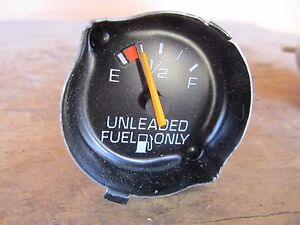 """NOS GM 1980's UNLEADED FUEL ONLY Gauge 1-3/4"""" Chevy Buick Olds Pontiac"""