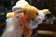 ADORABLE 9 INCH PLUSH STUFFED YELLOW TINTED BABY EASTER BUNNY RABBIT NEW SPRING