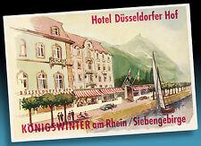 ALTER KOFFERAUFKLEBER LUGGAGE LABEL 40er HOTEL DÜSSELDORFER HOF KÖNIGSWINTER