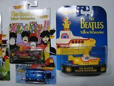 Hot Wheels Full  Beatles set Including Kool Kombi  &  Premium Yellow Submarine