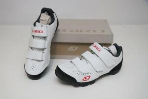 New Giro Women's Riela R MTB Mountain Bike Shoes 36 5 White Coral SPD Cycling