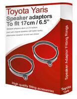 """Toyota Yaris speaker adapter pods Front Door 17cm 6.5"""" fitting rings adaptors"""