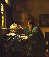 "JOHANNES VERMEER :: THE ASTRONOMER : ASTRONOMY : DELFT 24"" CANVAS FINE ART PRINT"