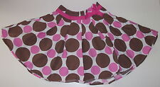 Mini Boden Girls 4  - 5 Fifties Skirt EUC Cocoa Disco Spot 32198BRN Polka Dots