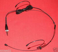 BLACK Double ear Headworn Headset Mic Microphone for SENNHEISER wireless system