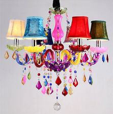 Colorful Crystal Chandelier Bohemia lustres de cristal Deco Colourful Kids pink