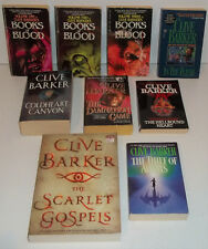 9 PB BOOKS BY CLIVE BARKER BOOKS OF BLOOD 1 - 3 THE THIEF OF ALWAYS HELLBOUND