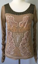 **L* Save The Queen lace Stretch Top Tee Shirt Tunic Dress Blouse Tank ITALY