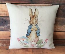 Peter Rabbit cushion cover 40 cm ~ Rustic country nursery baby gift