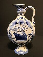 SS Rotterdam Royal Delft Silver Jubilee 1983 World Cruise  Commemorative Pitcher
