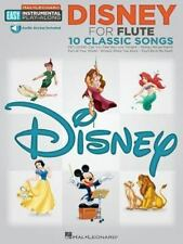 Disney: Flute Easy Instrumental Play-Along Book with Online Audio Tracks (Hal-le