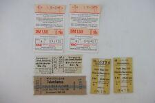 LOT of Vintage Ticket Stubs, from Germany, Zoo, Railway, Tutankhamun Exhibit!