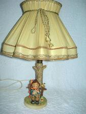 Vintage Hummel Lamp w/Orig. Shade-She Loves Me, She Loves Me Not-EUC-freeUSAship