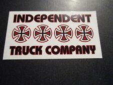 "INDEPENDENT TRUCKS Clear/Red Skateboard Logo Skate .5"" STICKER helmets decal"