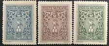 VATICANO-1945- 3v. MH   Stemma o effigie di Pio XII - Mi:VA 103-105