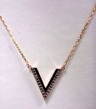 Delta Crystal Small Necklace Rose Gold Plated 2015 Swarovski Jewelry #5140120