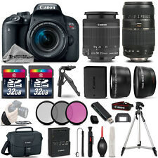 Canon EOS Rebel T7i 800D 24.2MP DSLR Camera w/ 18-55mm and 70-300mm Lens Bundle