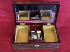 "Vintage Original Cylinder ""Romeo & Juliet"" Music Jewelry Wood Box Working"