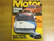 July 1st 1978, MOTOR, Fiat Supermirafiori, Hans Koch, Mercedes 300SL Gullwing.