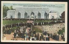 POSTCARD MONTREAL CANADA ST JOSEPH'S ORATORY PILGRIMS ATTENDING CEREMONY 1910'S