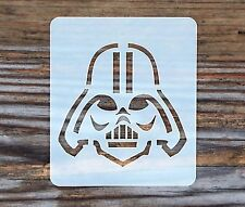Star Wars Darth Vader Face Painting Stencil 7cm x 6cm 190micron Washable Mylar