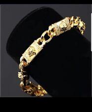Mens Medusa Head Miami Cuban Link 14K Gold Plated HipHop Bling Bracelet