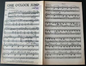 COUNT BASIE BUCK CLAYTON ONE O'CLOCK JUMP PIANO CONDUCTOR SHEET MUSIC (1940s)