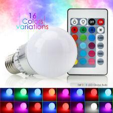Multi Color Changing Magic Lamp 5W E27 E26 RGB LED Bulb Light+IR Remote Control~