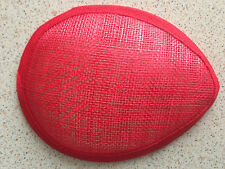 13*10*cm Oval Hat Form  Sinamay Base Great for making fascinators/party hats