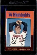 1975 Topps #5 Nolan Ryan HL Fans 300 forrd Year in a Row Card
